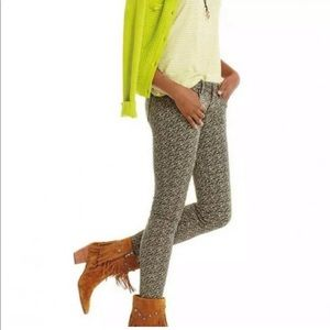 Cabi 5083 Ditsy Skinny Jeans Green Floral